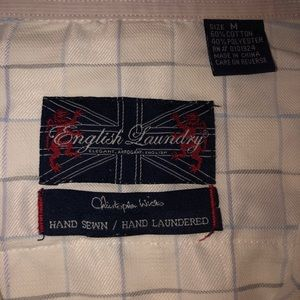 English Laundry Shirts - English Laundry Embroidered Flip Cuff Plaid ShirtM